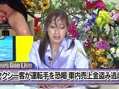 Nishio Kaori & Anzu Yuu i japanska bukkake tv-nyheter