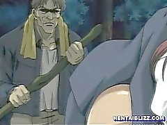 Gettot Hentai coed wetpussy knullas i skogens