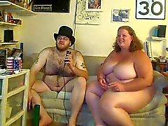 BBW Paar op cam