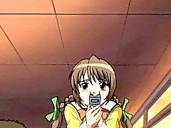 Hentai muchacha de doble de follada mientras que en las cuerdas