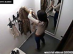 Exhibista Spycam magnífica adolescente de triguena que la ropa interior Lado de montaje