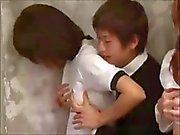 Kauniit japsi koulun tyttöjen Ime ja nussii For Good asteet
