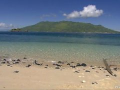 Çiftler A Pair Güzel Tropik Beach Hardcore Seks
