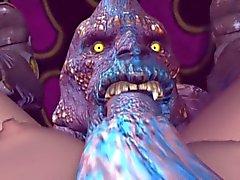 3D - Porno formation monster Knull Zuma Trimmat 01 lilla