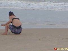 Plajda Spycam kızlar