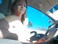 Webcam подросток Голая и вождения Автомобиль
