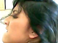 Doğal göğüsleri büyük bir horoz sert lanet ile Kimberly Gates, amatör latina