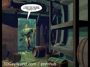 KABİNİ BOY 3B Gey Dünyanın Karikatür Comics'in yada Gey Hentai IN Anime MACERALARI