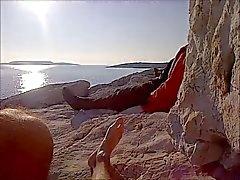 Wanking in Public ( limanakia nude beach )