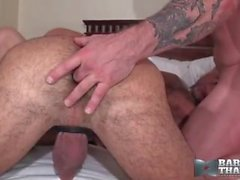 Adam Russo, Rocco Steele and Chad Brock Bareback that hole