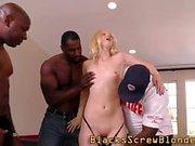 Skank Blonde suce la bbc
