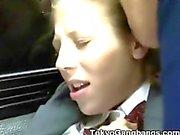 Vita Coed Blir Fingered av Tokyo bussar !