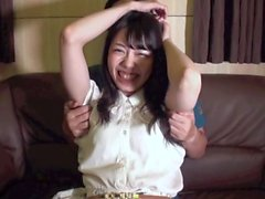 Japanese cute girl tickling
