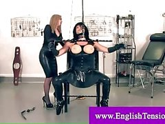 Mistress bağları ve manşetler trans köle