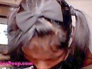 Thai Teen kanerva Syvän esitetään Syvä kurkku Kasvoille throa