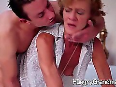 elderly woman and her young toyboy