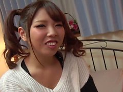 Cute Asian bimbo toyed and dicked by a horny guy