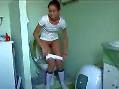 portugisisk Natasha at water closet