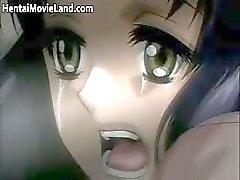 Hete schattige gezicht geile vervelende anime slet part3
