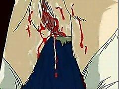Jungfru tight Hentai Porn fitta och röv knullat ett brutalt vid närbilds