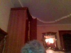 Ragazzo sveglio russo con culo liscio rotondo, grande cazzo sulla cam