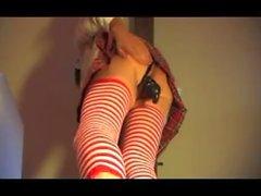 straight asian girl mature schoolgirl anal fisting gapping dildo lingerie p