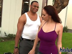 Kinky interracial session with busty Gianna Michaels