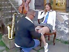 Lärarens fan Skolflicka i uniform