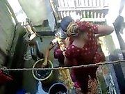 Bangla des villageoises de la de Desi se baigner dans de Dhaka l'AC ( à 5 )