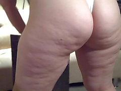 Big Butt Cutie In White Thong