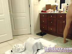 Lelu Love-WEBCAM: BTS Sybian Then Rash Shower Bath