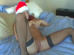 Filthy Redhead Slut gets a Fat Cock for Christmas