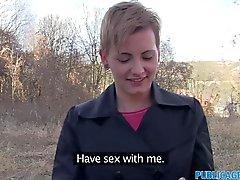 PublicAgent Kurze behaarte Frauen fickt Fremden