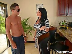 Holly Halston is his friend's horny mom in red shoes