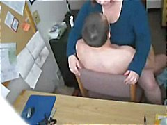 Vitun Kiimainen Fat BBW sihteeri on Piilokamera
