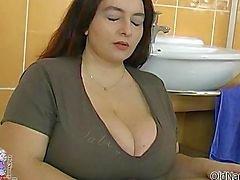 La mujer gorda Chicas se chuparse loco