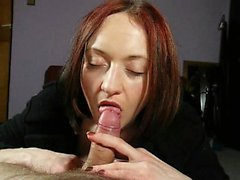 Passionate redhead loves to please a hard dick with her han