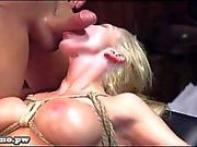 Elsa tied up and fucked on the table as you like