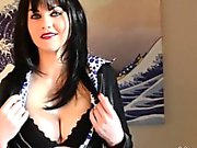 Dark hair Tina Kay enjoys masturbating with toy