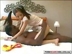 Tiny Asian Teen vs Black Monster Cock