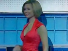 Rachel Riley nipples, cleavage ass