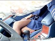 Sexy teen FA Christen Courtney fucked by stranger in the car