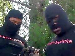 Seksi Siyah teen İlk Gruppenfick