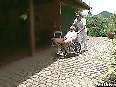 Verrückter alter Brasilianischer granny Schlampe!