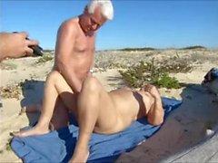 eşi, plajda sıcak seks