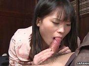 étudiant asiatique Naive obtenir sa chatte humide mangé sur p