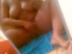 BBW squirts amigo em vídeo telefone roubado
