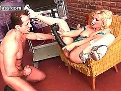 Sexy slut bionda si cornea