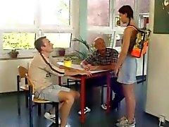 Student knullas av två Män BVR