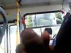 Utsätta mitt Cock på bussen
